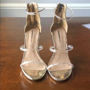 Bebe gold shoes